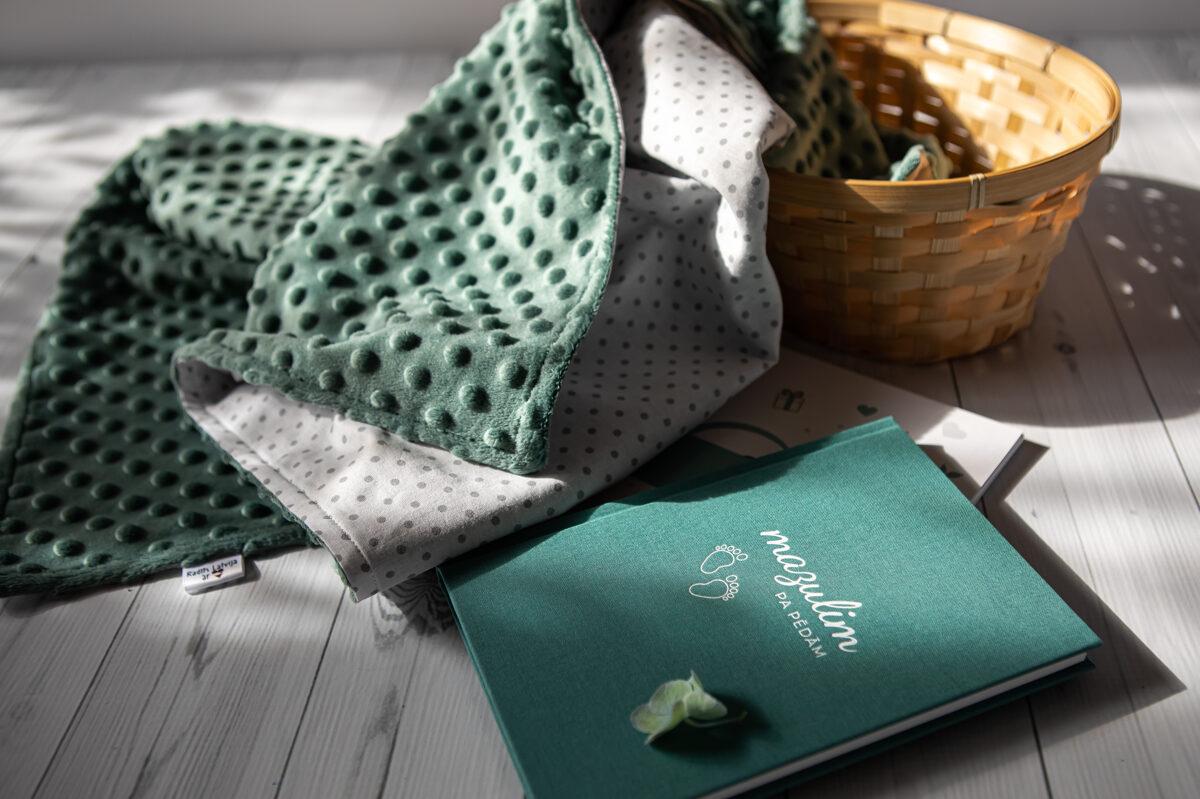 mīksta flīsa sedziņa - zaļa