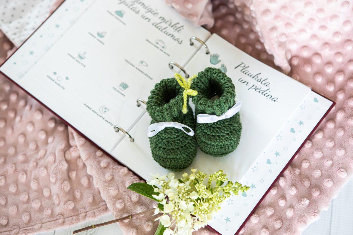 mazulim pa pēdām dienasgrāmata - meža zaļā krāsā