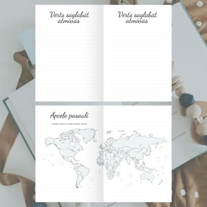 Vērts saglabāt atmiņās un mazā pasaules apceļotāja karte